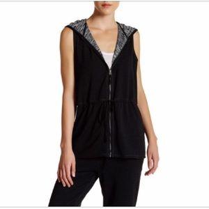 Max studio French Terry zip Vest Women's Size XL